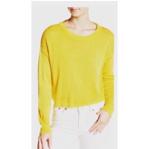 Absolutely Creative crop yellow knit sweater